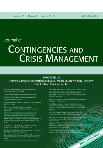 Journal of Contingencies and Crisis Management